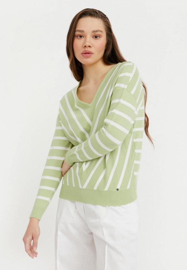 женский пуловер finn flare, зеленый