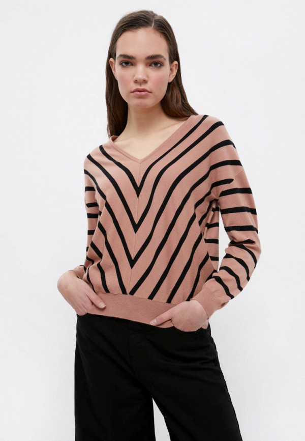женский пуловер finn flare, коричневый
