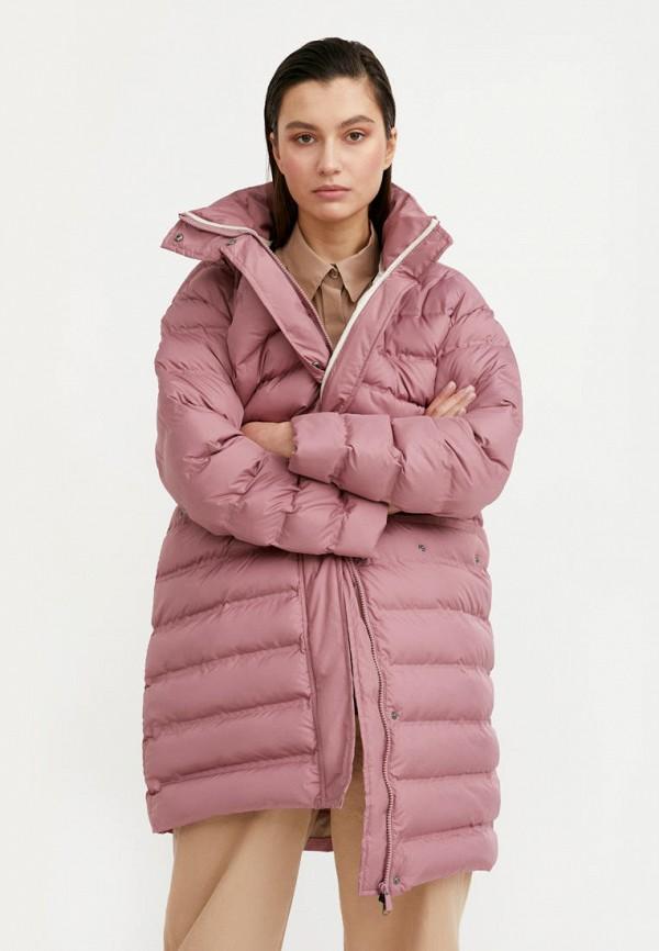 женская утепленные куртка finn flare, розовая