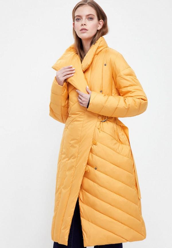 женская утепленные куртка finn flare, желтая