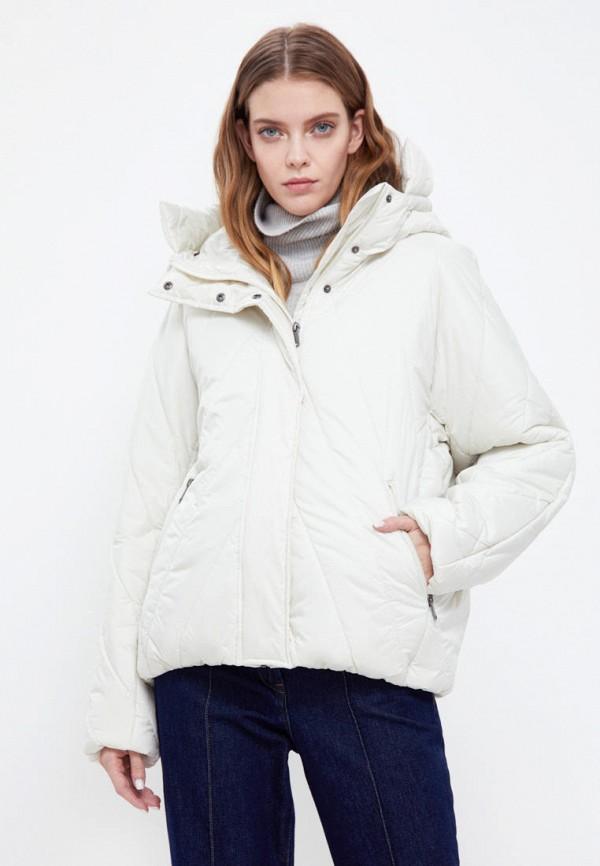 женская утепленные куртка finn flare, белая