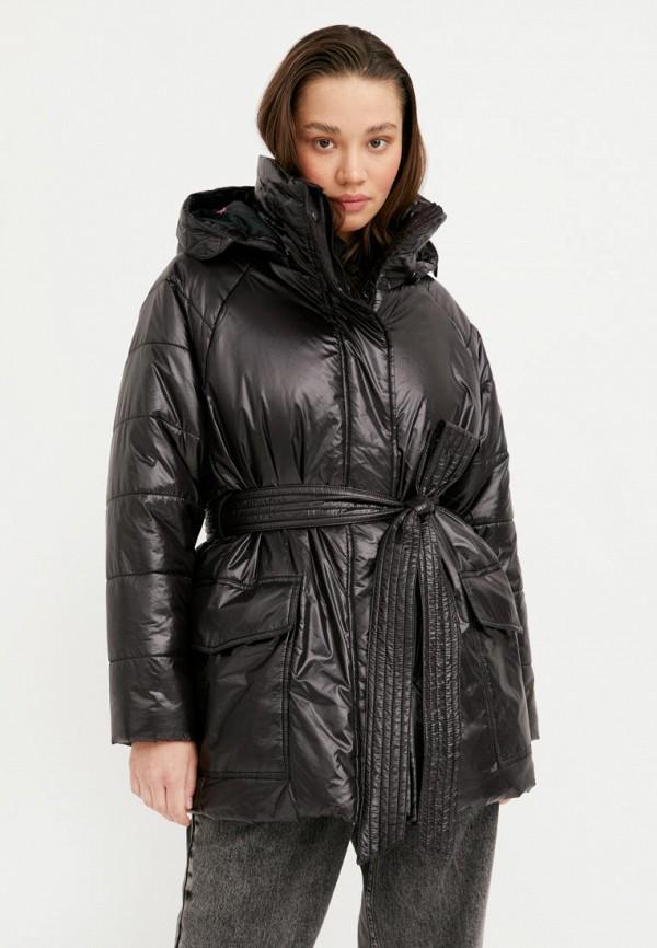 женская утепленные куртка finn flare, черная