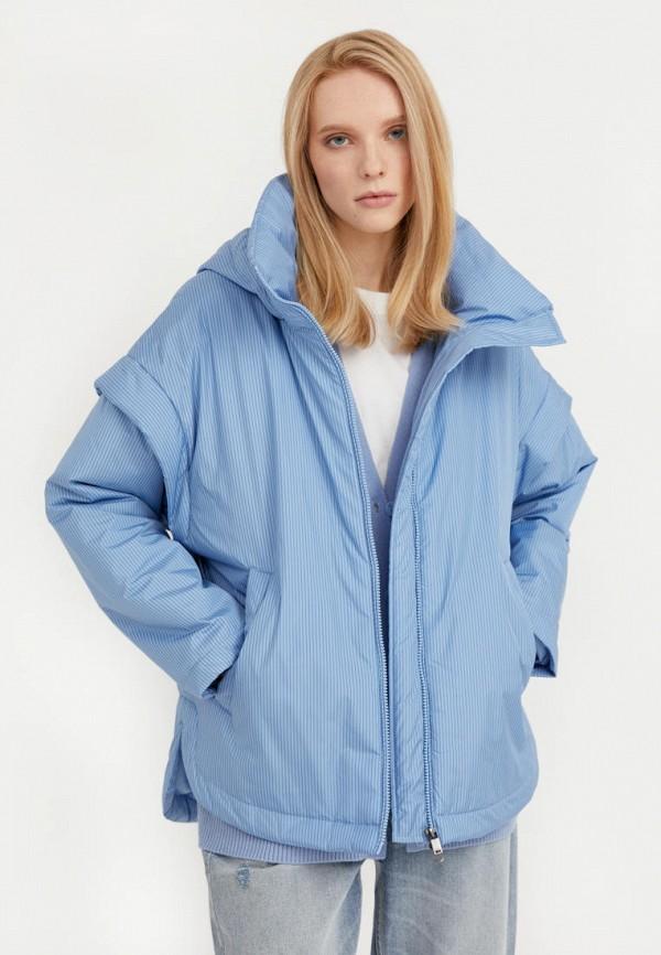 женская утепленные куртка finn flare, голубая