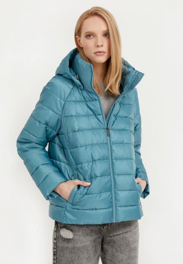 женская утепленные куртка finn flare, бирюзовая