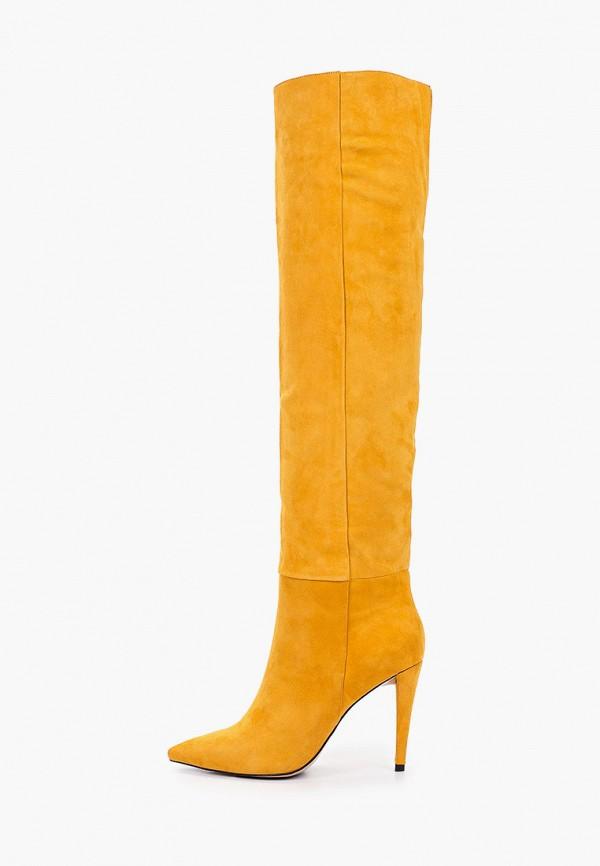 женские ботфорты evigi, желтые