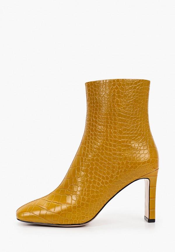 женские высокие ботильоны evigi, желтые