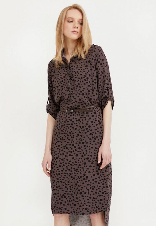 женское повседневные платье finn flare, коричневое