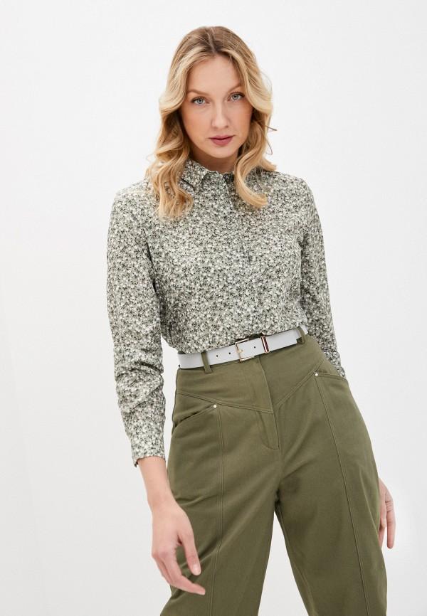 женская блузка с длинным рукавом befree, зеленая