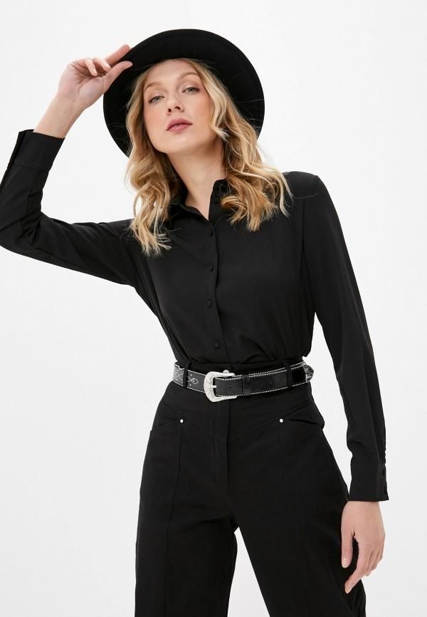 женская блузка с длинным рукавом befree, черная