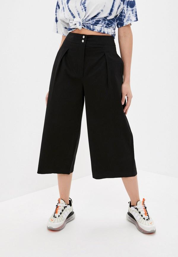женские брюки кюлоты befree, черные