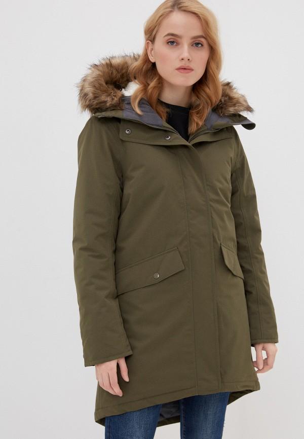 женская утепленные куртка didriksons, зеленая