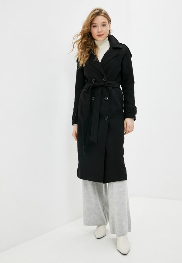 женское двубортные пальто elegant life, черное