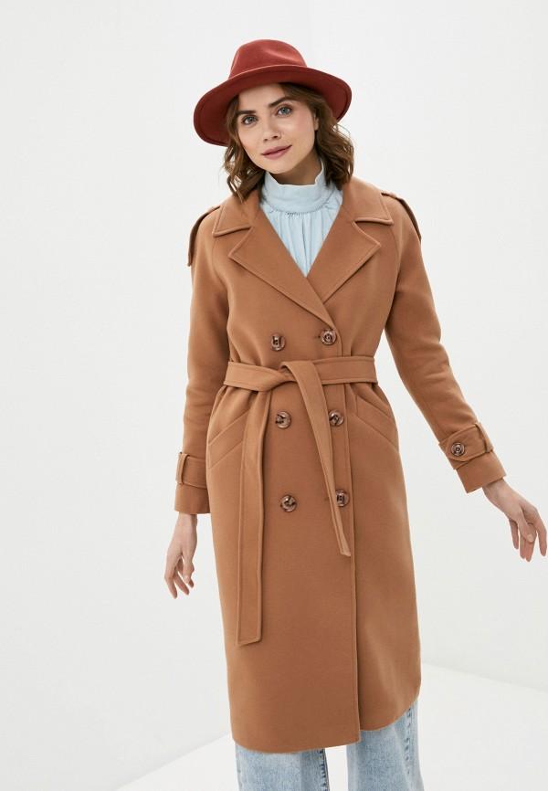 женское двубортные пальто elegant life, золотое