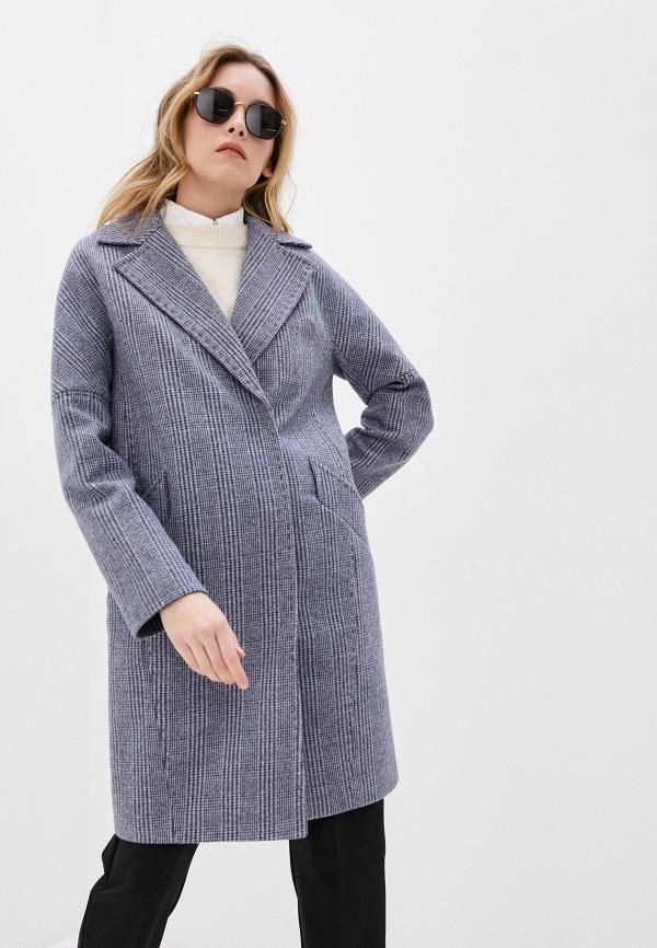 женское двубортные пальто elegant life, синее