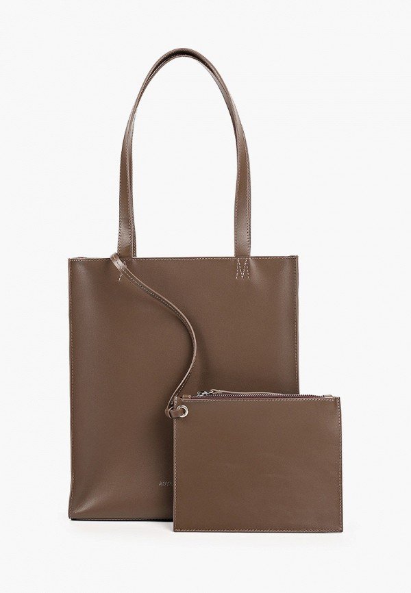 женская косметичка-шоперы asya malbershtein, коричневая
