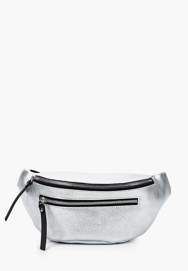 женская поясные сумка asya malbershtein, серебряная