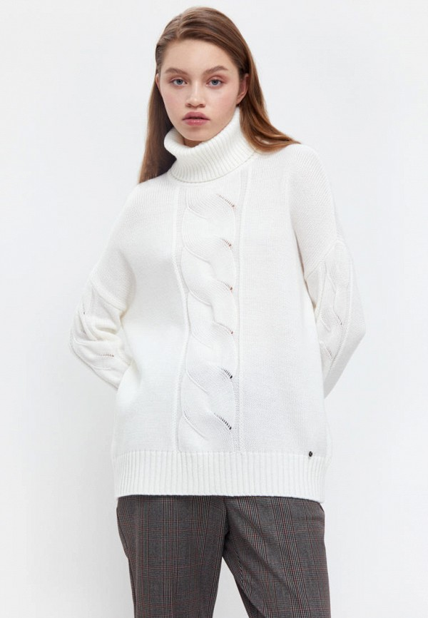 женский свитер finn flare, белый