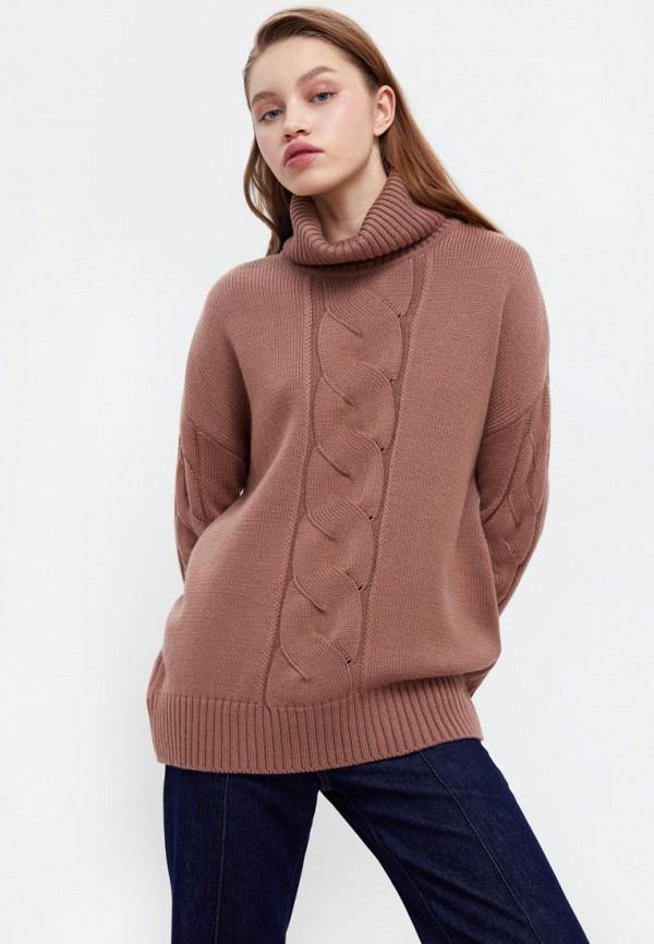 женский свитер finn flare, коричневый