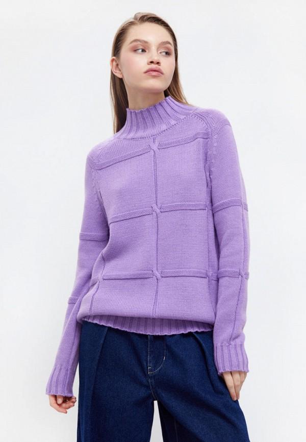 женский свитер finn flare, фиолетовый