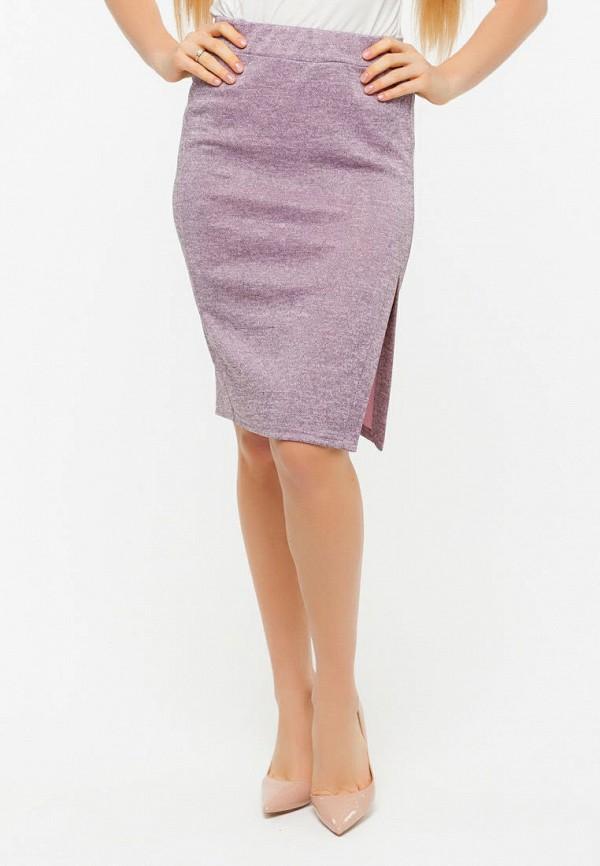 женская узкие юбка текстиль хаус, розовая
