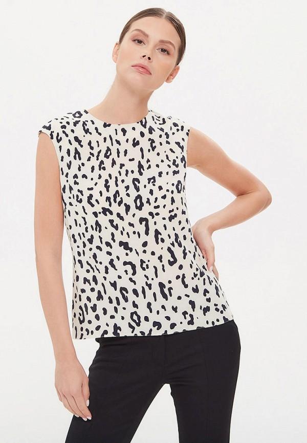 женская блузка без рукавов lezzarine, бежевая