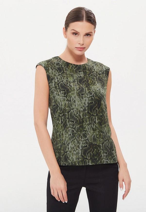 женская блузка без рукавов lezzarine, зеленая