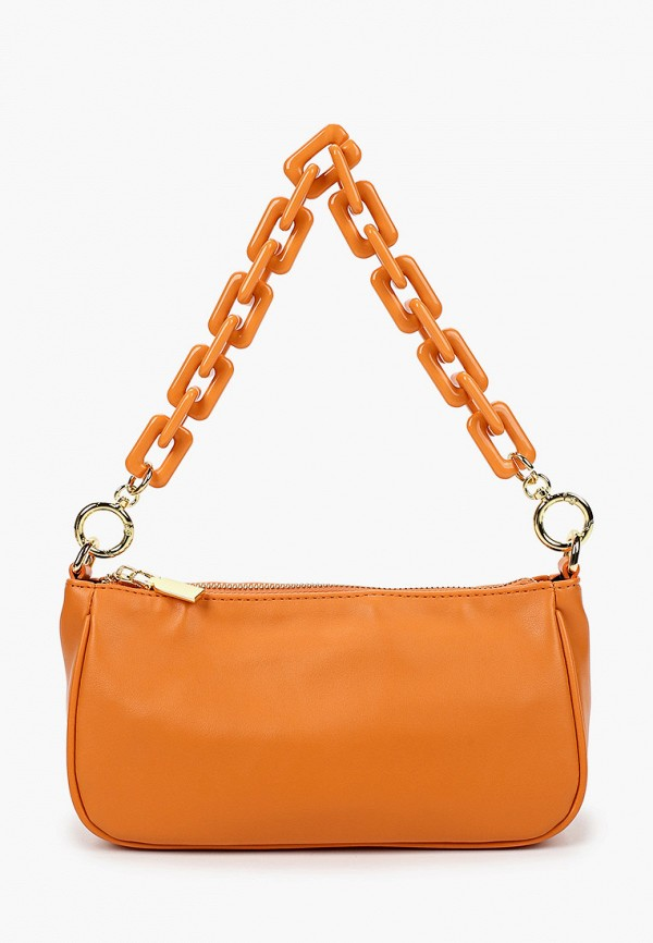 женская сумка с ручками vitacci, оранжевая