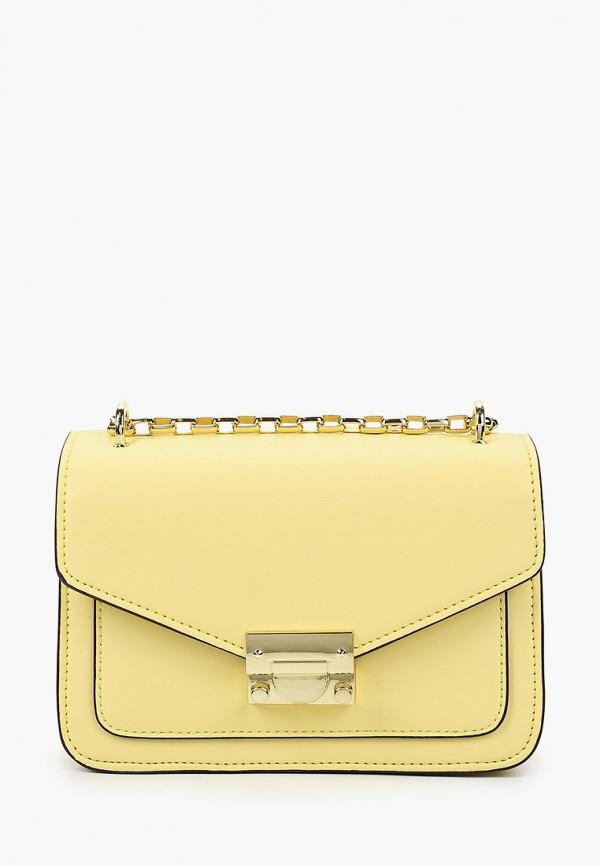 женская сумка через плечо vitacci, желтая