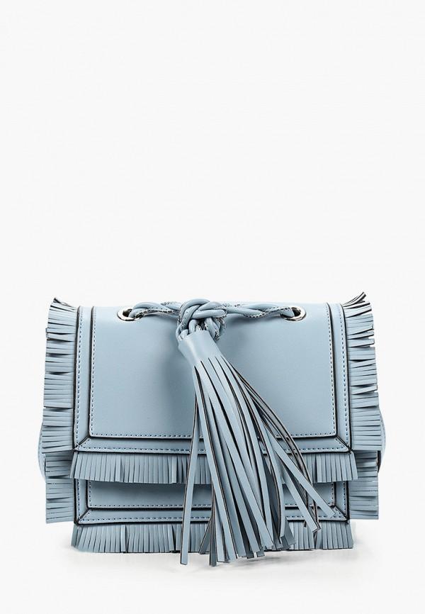 женская сумка через плечо vitacci, голубая