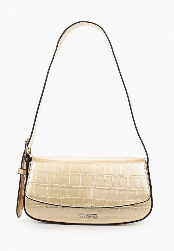 женская сумка с ручками vitacci, золотая