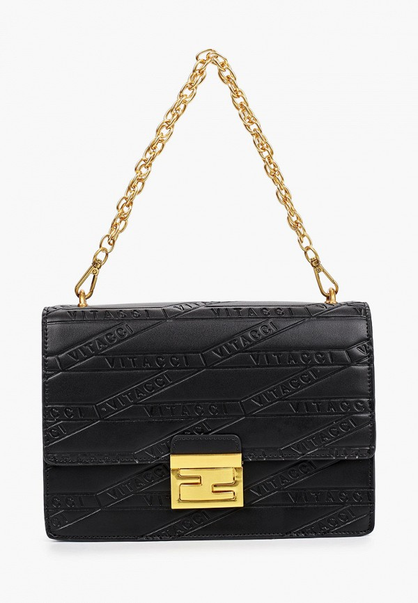 женская сумка с ручками vitacci, черная