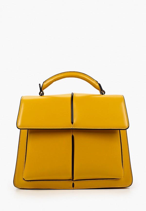 женская сумка с ручками vitacci, желтая
