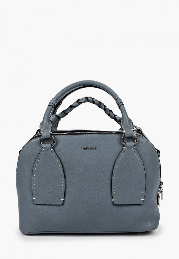 женская сумка с ручками vitacci, голубая