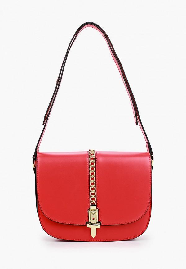 женская сумка через плечо vitacci, красная
