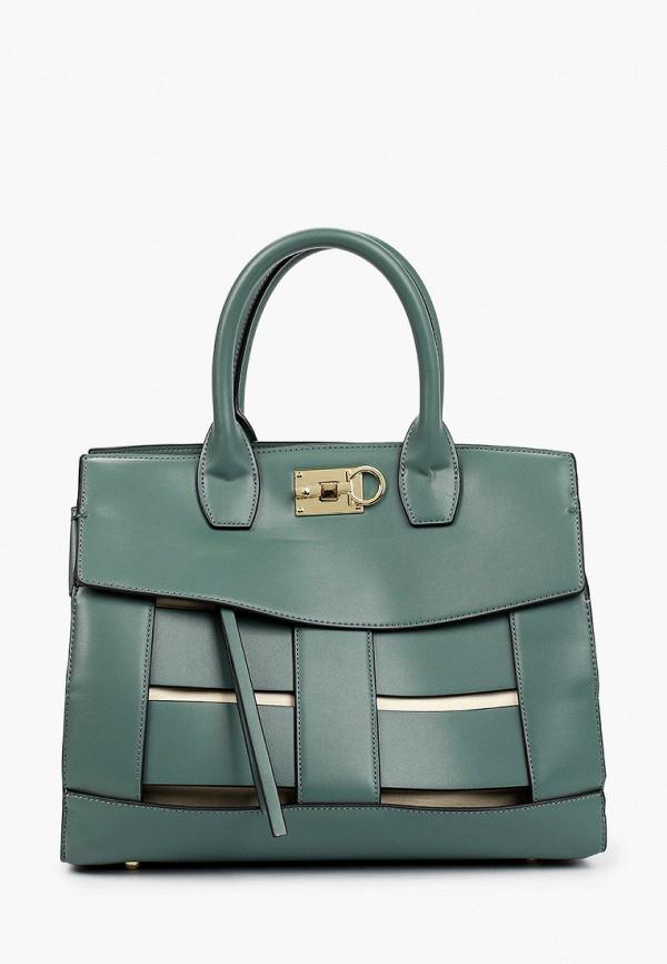 женская сумка с ручками vitacci, бирюзовая