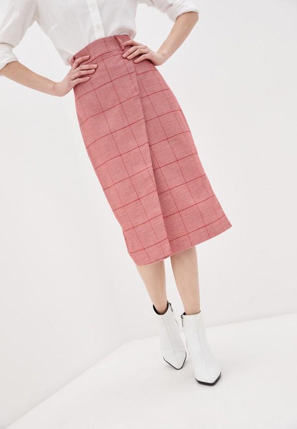 женская прямые юбка avemod, красная
