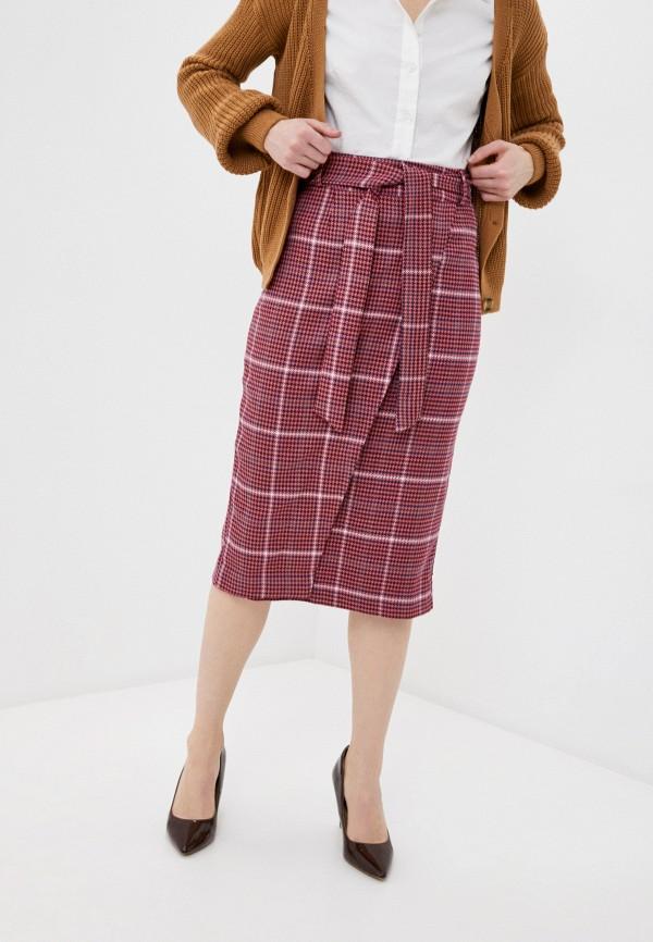 женская прямые юбка avemod, розовая