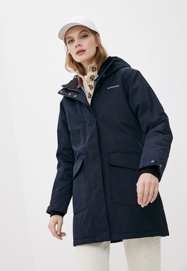 женская утепленные куртка didriksons, синяя