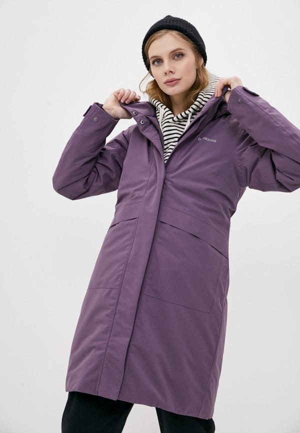 женская утепленные куртка didriksons, фиолетовая