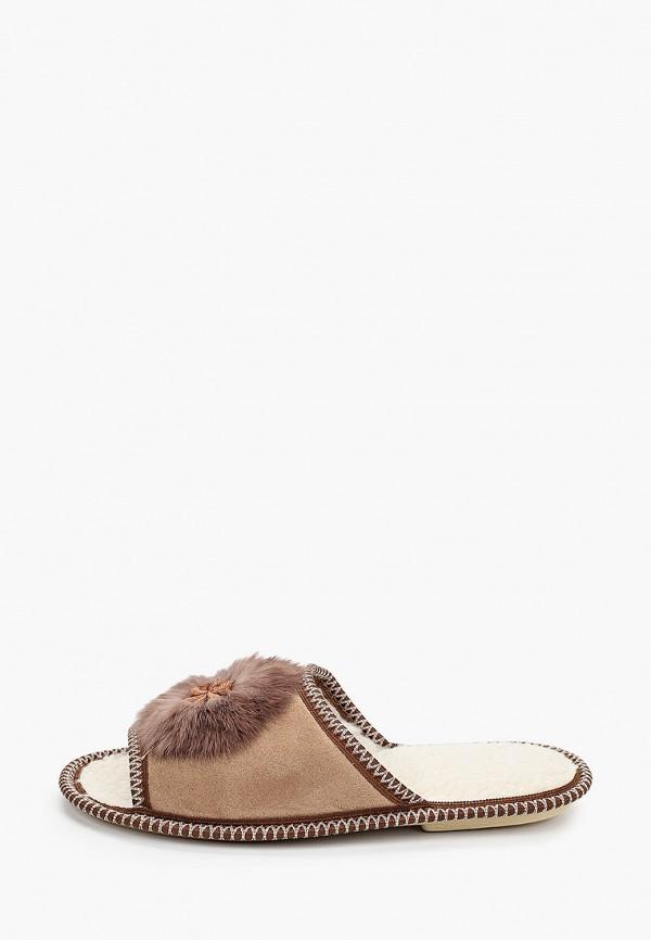 женские тапочки lilaccat, коричневые