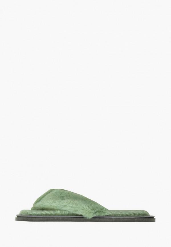 женские тапочки amaro home, зеленые