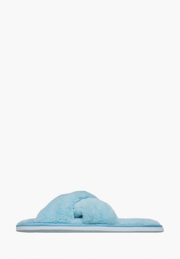женские тапочки amaro home, голубые