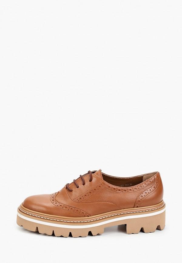 женские ботинки-оксфорды giotto, коричневые