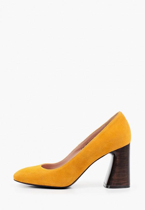 женские туфли с закрытым носом giotto, оранжевые