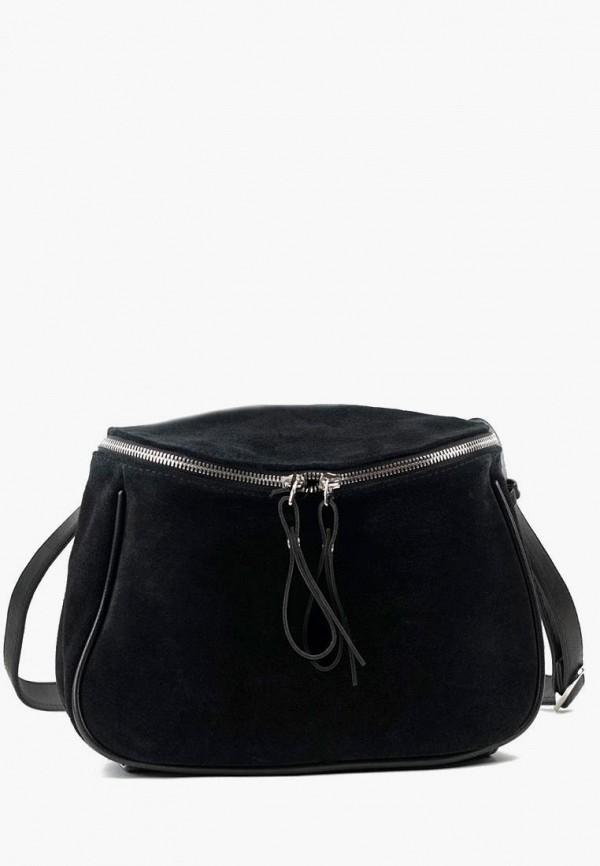 женская сумка через плечо vita, черная