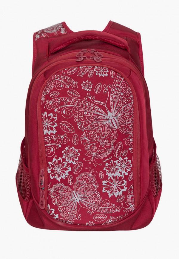 женский рюкзак grizzly, красный