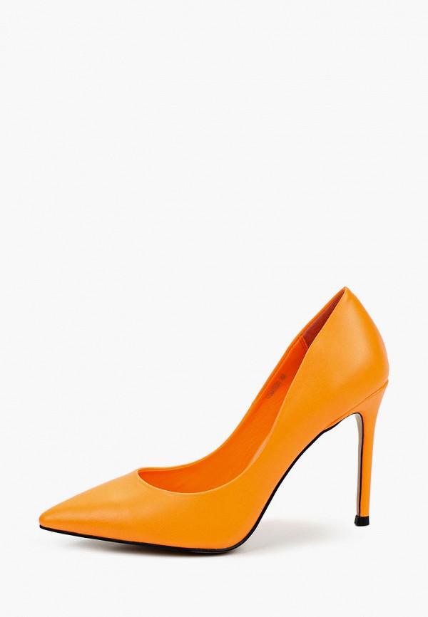 женские туфли-лодочки vitacci, оранжевые