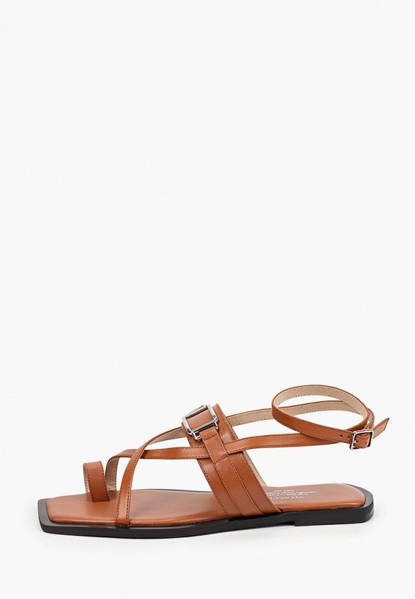 женские сандалии vitacci, коричневые