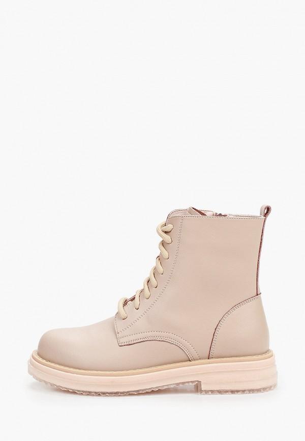 женские высокие ботинки vitacci, бежевые