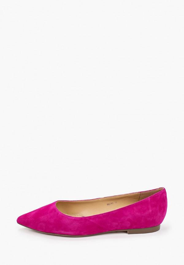 женские туфли с закрытым носом vitacci, фиолетовые